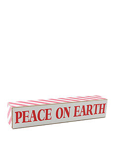 Fetco Home Decor Peace on Earth Sign