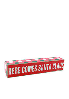 Fetco Home Decor Here Comes Santa Claus Sign