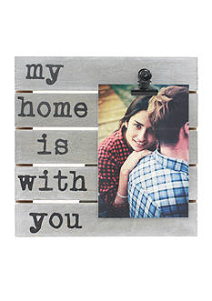 Fetco Home Decor My Home is With You 4x6 Pallet Clip Frame