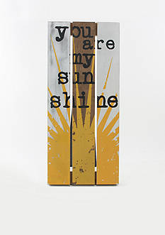 Fetco Home Decor You are my Sunshine Pallet Art Plaque