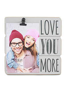 Fetco Home Decor 4 x 6 Clip Frame Love You More - Light Gray
