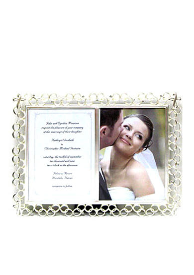 Fetco Home Decor Cross and Rings Double 5x7 Frame