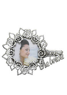 Fetco Home Decor Bouquet Pewter Wedding Frame
