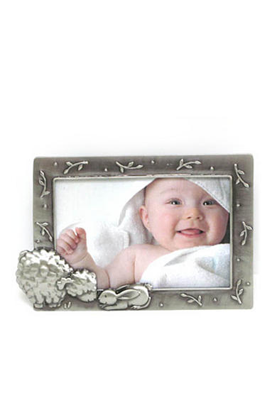 Fetco Home Decor Baby Sheep Pewter 4x6 Frame