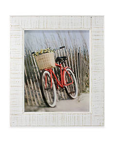 Fetco Home Decor Reclaimed Wood Rustic White 8x10 Frame