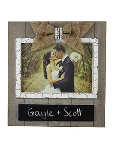 Fetco Home Decor Alyson Wedding Frame with Chalkboard and Bow