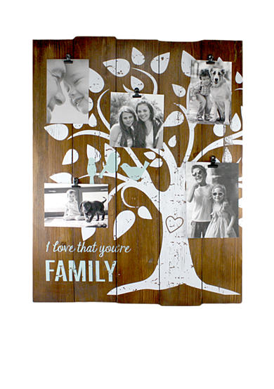 Fetco Home Decor Woodmere Family Tree 5-Clip Wall Collage