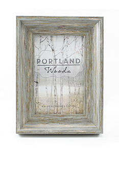 Fetco Home Decor Portland Woods Kalman 4x6 Frame - Distressed Grey