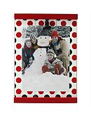 Fetco Home Decor Polka Dot Holiday Clip 4x6 Frame