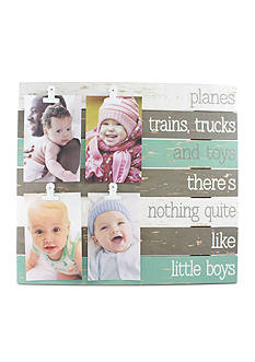 Fetco Home Decor Lidell Wall Clip Collage Boys - White and Light Blue
