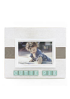 Fetco Home Decor 4 x 6 Lowrie Frame Cutie Pie - White and Light Blue