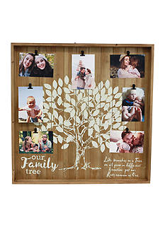 fetco home decor treely wall collage family tree aged wood