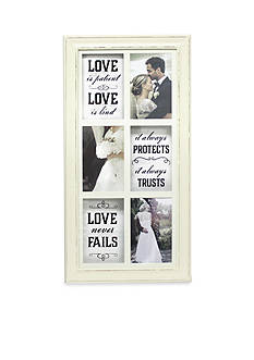 Fetco Home Decor Layne Wall Collage Love Is Patient Frame