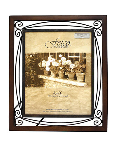 Fetco Home Decor Collington Tuscan Double-Scroll Metal 8x10 Frame