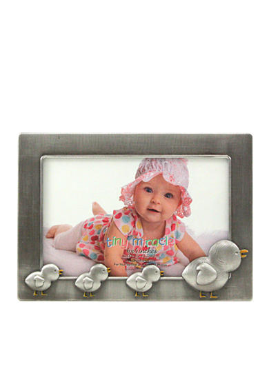 Fetco Home Decor Chicks Pewter 6x4 Frame