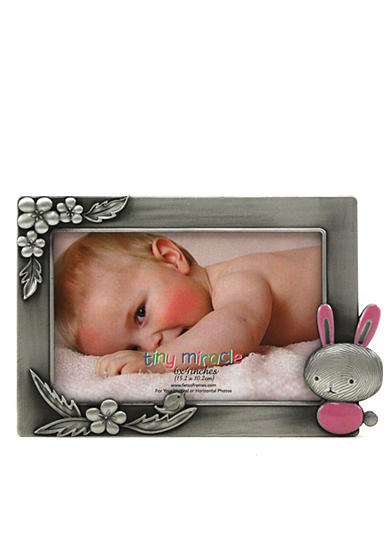 Fetco Home Decor Bunny Pewter 6x4 Frame