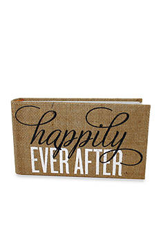 Fetco Home Decor Burlap Happily Ever After 1 Up Photo Album