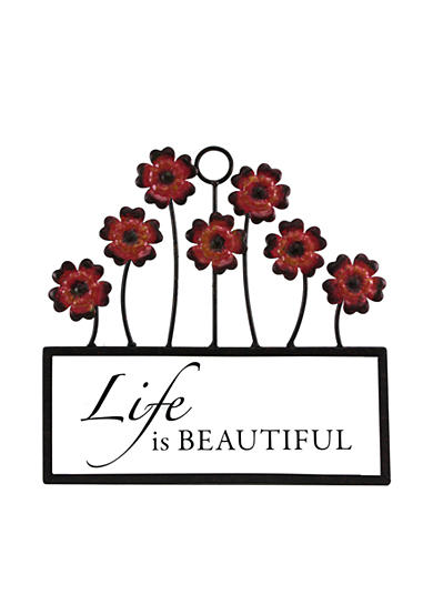 Fetco Home Decor Halle Life is Beautiful Wall Decor