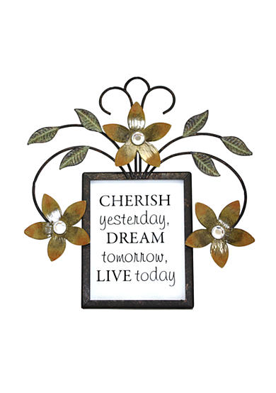 Fetco Home Decor Brinley Wall Art ~ Fetco home decor halle cherish dream live sentimental