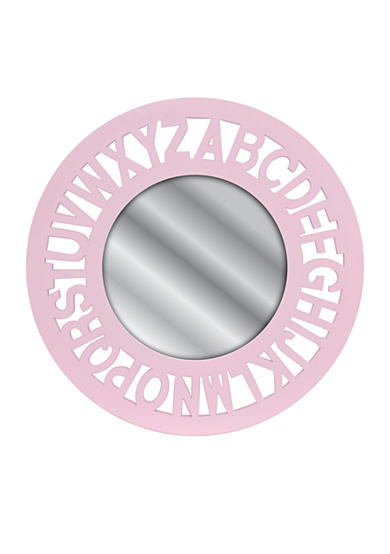 Fetco Home Decor Carryn Alphabet Mirror Round