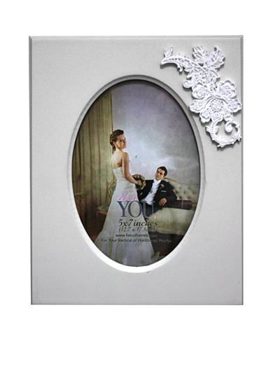 Fetco Home Decor It's You, Floral Embellishment 5x7 Frame