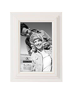 Malden White Stepped 4x6 Frame