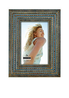 Malden International Designs Turquoise Beaded Wood 4x6 Frame