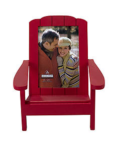 Malden International Designs Red Beach Chair 4x6 Frame
