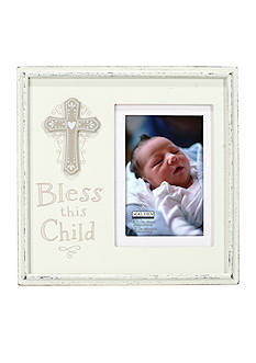 Malden International Designs Bless this Child with Cross 4x6 Frame