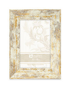 Malden Distressed Gold and White 4x6 Frame