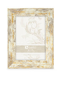Malden Distressed Gold and White 5x7 Frame