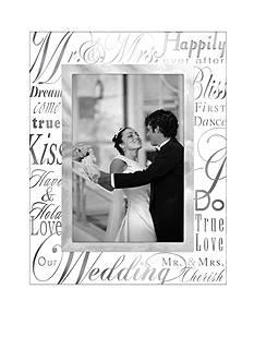 Malden Mr. & Mrs. 4x6 Glass Frame