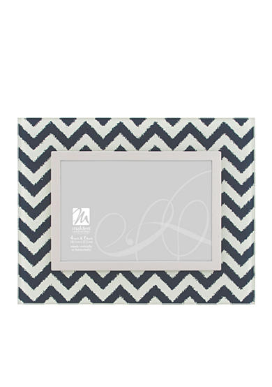 Malden Chevron Blue 4x6 Frame