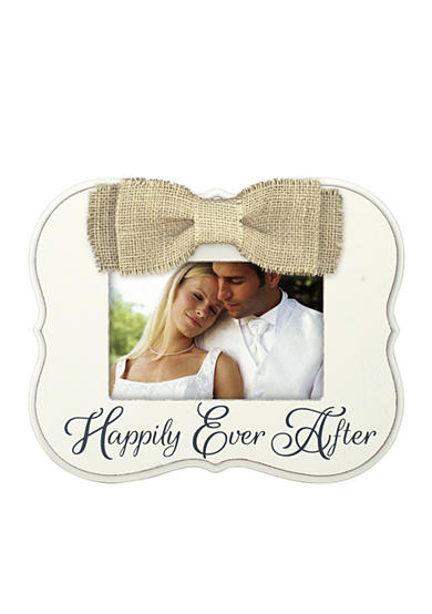 Malden Burlap Bow Happily Ever After 4x6 Frame