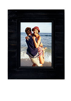 Malden International Designs Driftwood Slats Black 5-in. x 7-in. Frame