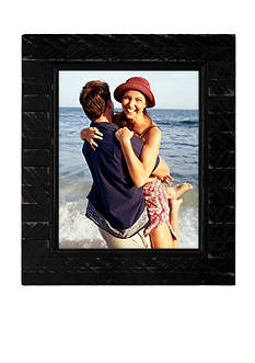 Malden International Designs Driftwood Slats Black 8-in. x 10-in. Frame