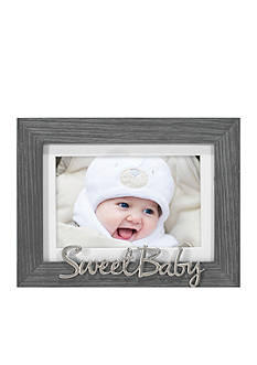 Malden Distressed Sentiments Grey Sweet Baby 4x6