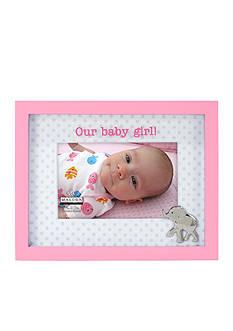 Malden Baby Girl Dot Pink Frame 4 x 6