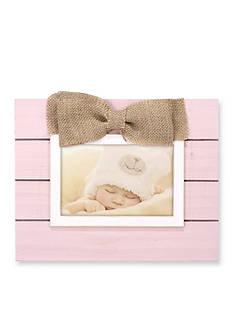 Malden Pink Plank Burlap Bow 4x6 Frame