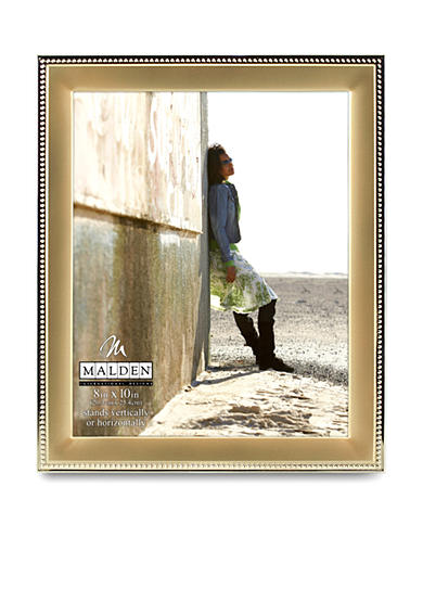 Malden Gold Metal Beaded 8x10 Frame