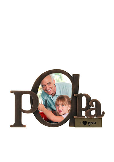 Malden Papa Shaped Sentiment Frame