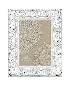 Malden International Designs White Latticed Metal 5-in. x 7-in. Frame