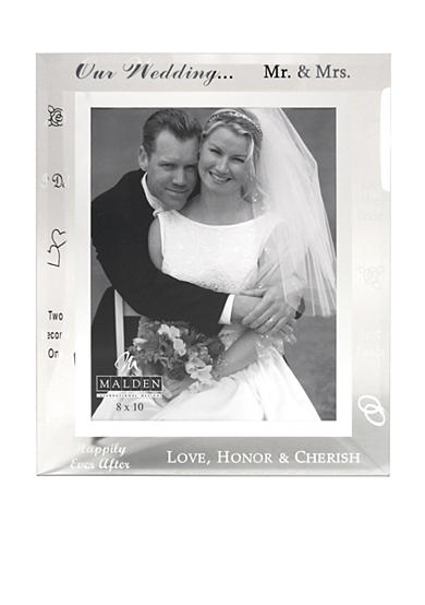 Malden Wedding Words Glass 8x10 Frame