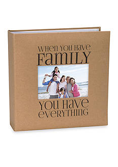 Malden 2-up Family Kraft Paper 4x6 Photo Album