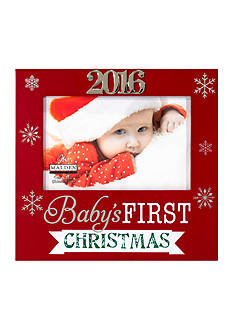 Malden International Designs Baby's First Christmas with Snowflakes 4x6 Frames