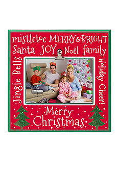 Malden International Designs Merry Christmas Whimsical 4x6 Clip Frame