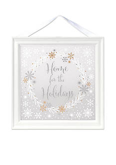 Malden International Designs Home for the Holidays Frosted Sign