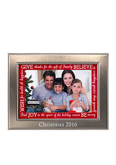 Malden International Designs Christmas 2016 Silver with Red Sentiment Mat