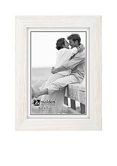 Malden International Designs Distressed Linear 5x7 Frame