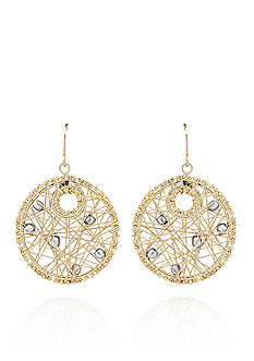 Belk & Co. 14k Yellow Gold Web Earrings